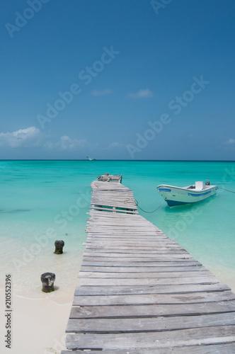 Naklejki na drzwi   caribbean-sea-dock