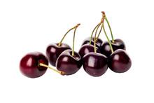 Dark Cherry Isolated On White ...