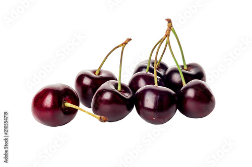 dark cherry isolated on white background