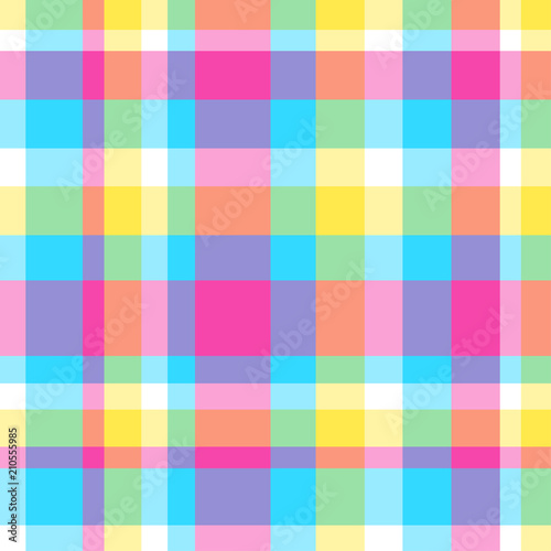 Seamless Multicolored Pattern Checkered Background