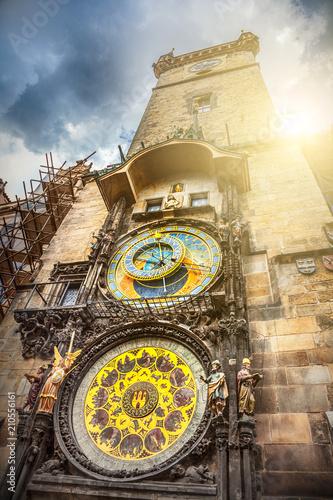 Naklejka premium Praski zegar astronomiczny