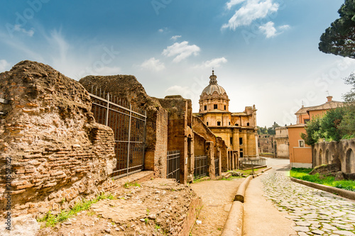 Roman Forum in Rome. Italy capital landmarks. Tapéta, Fotótapéta
