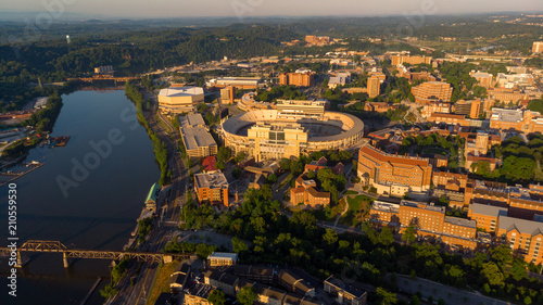 Foto op Plexiglas Stadion University of Tennessee campus aerial view with river and stadium