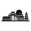 Taipei icon. Simple illustration of taipei vector icon for web design isolated on white background