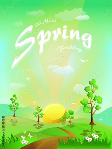 Foto op Canvas Lichtblauw Spring