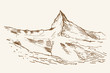 Matterhorn Alpy rysunek ręcznie rysowany