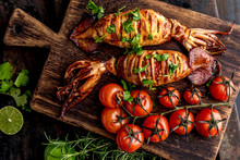 Korean BBQ Squid Calamary And ...