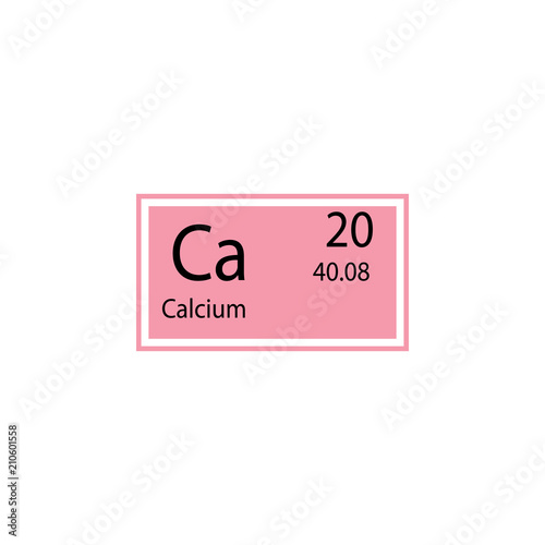 Periodic Table Element Calcium Icon Element Of Chemical Sign Icon
