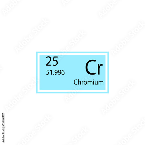 Periodic Table Element Chromium Icon Element Of Chemical Sign Icon