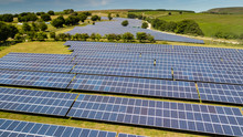 A Solar Generation Power Plant In South Wales, Britain