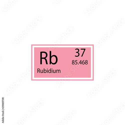 Periodic Table Element Rubidium Icon Element Of Chemical Sign Icon