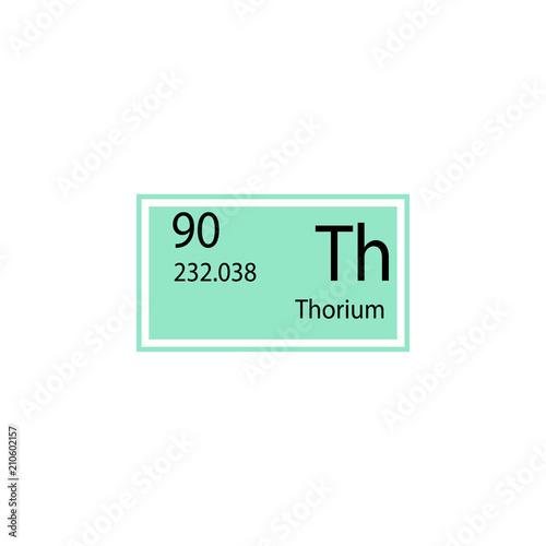 Periodic Table Element Thorium Icon Element Of Chemical Sign Icon