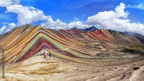 Poster Rainbow Mountain in Cusco, Peru.