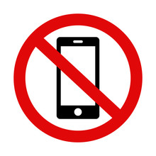 'Please Silence Your Mobile Phone' Vector Icon On Isolated Background. Variant No. 2