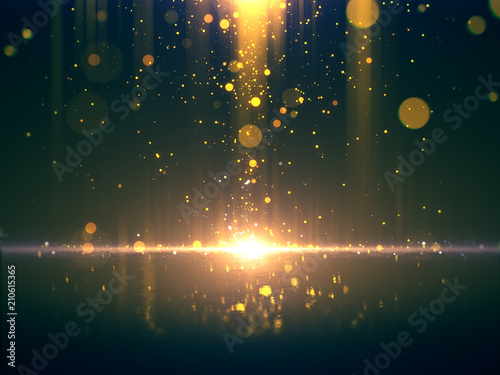 Photo  Gold glittering bokeh background