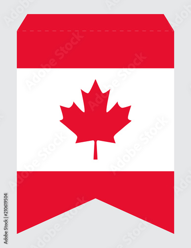 Printable Canada Day Party Banner Swallowtail Pennant Vector Template Official Canadian Flag Colors Ready