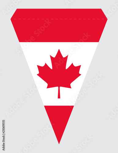 image about Printable Canadian Flag known as Printable Canada Working day Social gathering Banner Triangular Pennant Vector