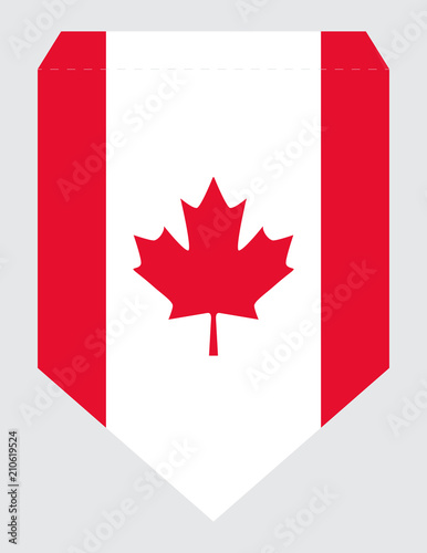 graphic regarding Printable Canadian Flag called Printable Canada Working day Social gathering Banner Spearhead Pennant Vector