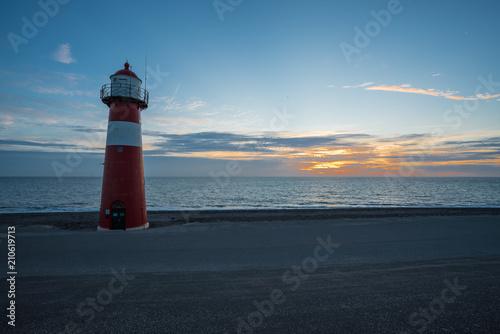Foto op Aluminium Vuurtoren lighthouse in westkapelle