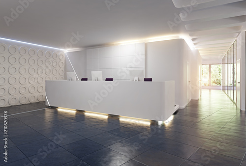 Fotografie, Obraz modern reception desk design.