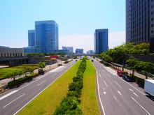 Modern Skyscrapers In Business District Of Makuhari, Chiba, Japan