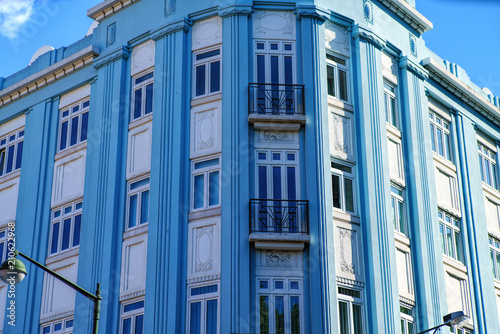 Foto op Aluminium Oude gebouw The facade of the ancient building in Lisbon . sunny afternoon