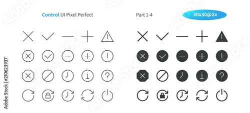 Foto Control UI Pixel Perfect Well-crafted Vector Thin Line And Solid Icons 30 2x Grid for Web Graphics and Apps