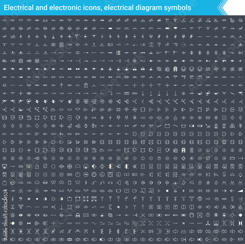 Phenomenal Electrical And Electronic Icons Electrical Diagram Symbols Circuit Wiring Cloud Inamadienstapotheekhoekschewaardnl