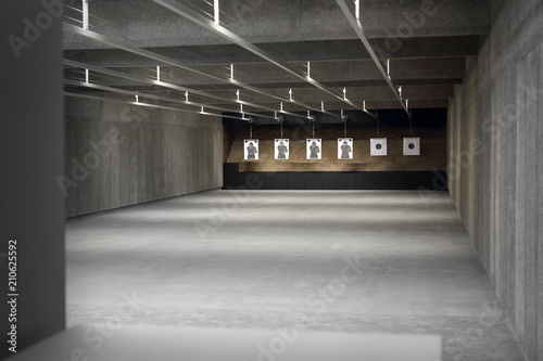 Obraz Strzelnica. tarcza strzelecka na strzelnicy sportowej - fototapety do salonu