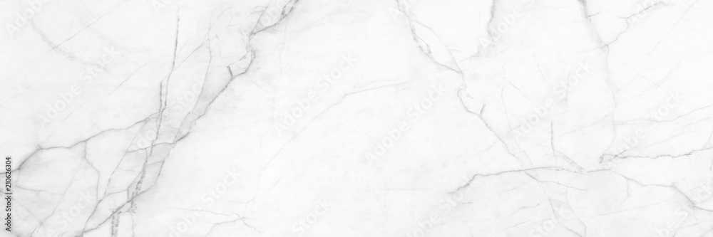 Fototapety, obrazy: panoramic white background from marble stone texture for design