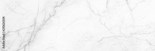 panoramic white background from marble stone texture for design - 210626304
