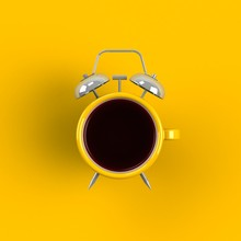 Alarm Clock And Coffee Concept...