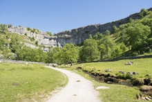 Malham Cove Yorkshire Dales National Park Tourist Attraction