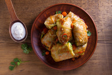 Cabbage Rolls With Meat, Rice ...