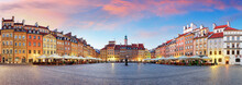 Panorama Of Warsaw Odl Town Sq...
