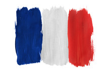 Painted French Flag Isolated