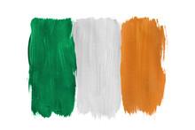 Painted Irish Flag Isolated