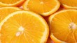 Oranges. Orange slices rotating pattern macro texture background backdrop footage video.