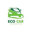 Eco Car Logo Vector