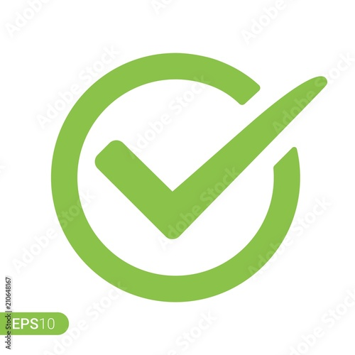 Fotografie, Obraz  New Check mark logo vector or icon
