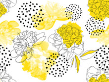 Seamless Vector Pattern With Y...