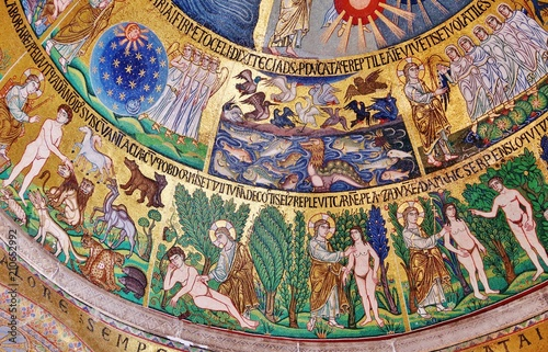 Schöpfung, Mosaik, Markusdom, Venedig Fototapete