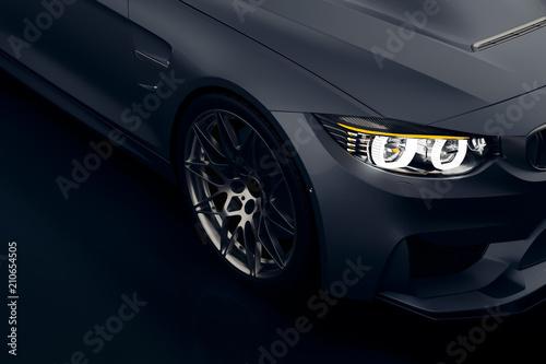 Fényképezés  3d sport car, studio render