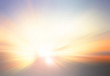 Leinwandbild Motiv background, sky, sun, blur, summer, hope, bokeh, light, abstract, blurred, sunrise, sunset, nature, white, beach, color, vintage, texture, landscape, yellow, water, bright, wallpaper, beauty, gradient