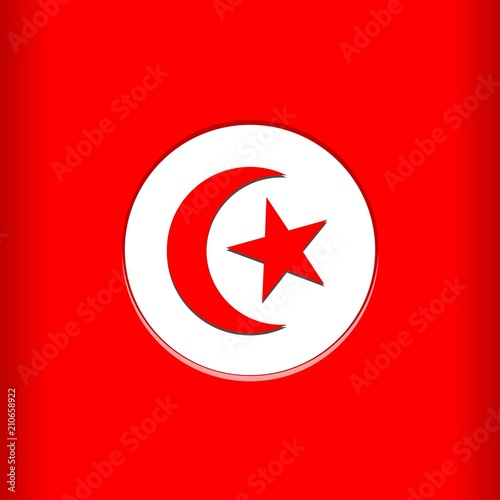 In de dag Draw Tunisia Flag Vector illustration