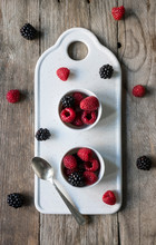 Blackberries And Raspberries I...
