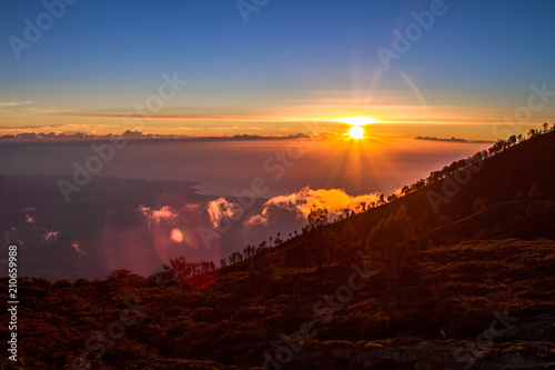 Poster Bordeaux Ijen volcano, Jawa, Indonesia