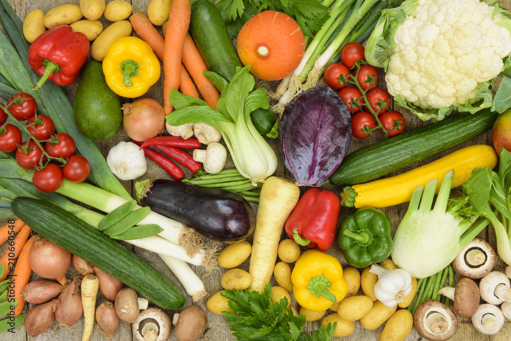 healthy vegetables from market