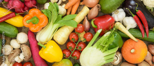 Tuinposter Groenten healthy vegetables from market