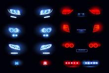 Car Lights Realistic Set
